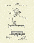 John Art Drawings - Mouth Organ 1876 Patent Art by Prior Art Design