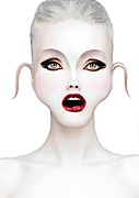 Make-up Prints - Mouth Print by Yosi Cupano