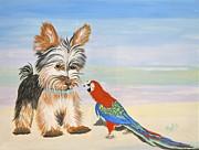 Mouthy Parrot Print by Phyllis Kaltenbach