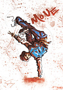 Break Dance Prints - MOVE B-Boy Print by Tuan HollaBack