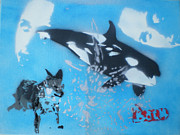 Orca Paintings - Move Free by Barry Boom