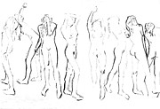 Nudes Drawings Prints - Movement Print by Joanne Claxton