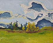Francois Fournier Paintings - Movement On A Fall Day  Quebec  Canada by Francois Fournier