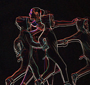 Neon Effects Prints - Movement Print by Reb Frost