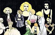 Movie Ladies Montage Print by Mel Thompson