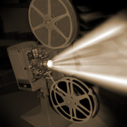 Theater Metal Prints - Movie Projector  Metal Print by Mike McGlothlen