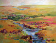 Wetland Paintings - Moving Down Stream by Marty Husted