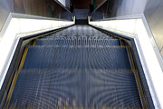 Escalator Prints - Moving Escalator Print by Paul Edmondson