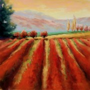 Impressionistic Landscape Pastels - Moving Forth by Lynee Sapere