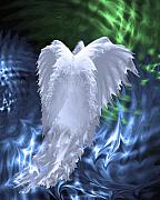 Angel Digital Art - Moving Heaven and Earth by Cathy  Beharriell