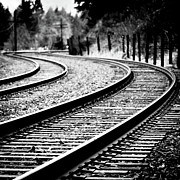 Train Tracks Photos - Moving On by Brian Bonham