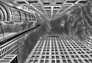 Urban Buildings Photo Prints - Moving on up Print by Scott Norris