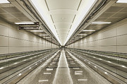 Air Travel Prints - Moving Walkways At Airport Print by Dave & Les Jacobs