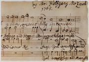 Mozart Framed Prints - Mozart: Motet Manuscript Framed Print by Granger