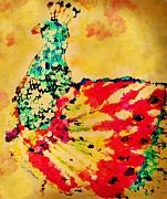Abstract Drawings - MPrints - Pretty  Peacock by M Stuart