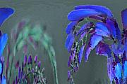 Purple Flowers Digital Art - MPrints - Wisteria by M  Stuart