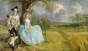 Church Tower Prints - Mr and Mrs Andrews Print by Thomas Gainsborough