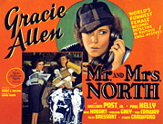Talking Metal Prints - Mr. And Mrs. North, Gracie Allen Metal Print by Everett