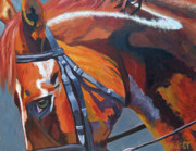 Chestnut Horse Paintings - Mr. Big Stuff by Anne West