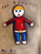 Surreal Portrait Framed Prints - Mr. Bill Framed Print by Leah Saulnier The Painting Maniac