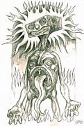 Mr. Blockhead In Purgatorio Print by Gregory Dyer