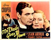 Deeds Posters - Mr. Deeds Goes To Town, Jean Arthur Poster by Everett