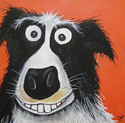 Collie Painting Framed Prints - Mr Dog Framed Print by Caroline Peacock
