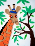 Child Art Prints - Mr. Giraffe Print by Jacq Lovelace