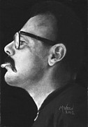 Music Drawings Originals - Mr. Guaraldi by Melanie Wood