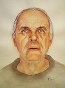 Anthony Hopkins Paintings - Mr. H by Eleonora Perlic