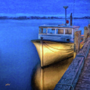 Fishing Boat Reflection Framed Prints - Mr. Jake Framed Print by Michael Petrizzo