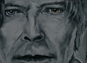 David Bowie Portrait Paintings - Mr. Jones by Deana Smith