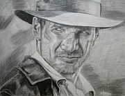 Indiana Drawings Prints - Mr Jones Print by Robert Link