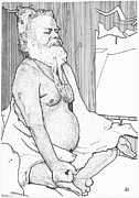 Buddhist Drawings - Mr. Meditation by Al Buchanan