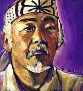 Kid Painting Prints - Mr Miyagi Print by Buffalo Bonker