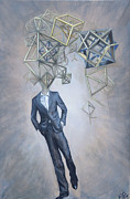 Neo Surrealism Prints - Mr. Octahedron Iteration 1 Print by Vincent Fink