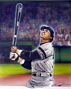 Yankees Drawings Framed Prints - Mr. October Framed Print by Dave Olsen