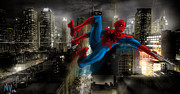 Peter Parker Framed Prints - Mr. Parker in NY Framed Print by Nicholas Vermes