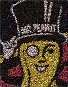 Bottle Cap Posters - Mr. Peanut Bottle Cap Mosaic Poster by Paul Van Scott