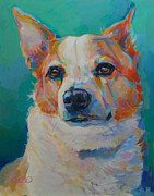 Corgi Dog Portrait Posters - Mr Percival Poster by Kimberly Santini