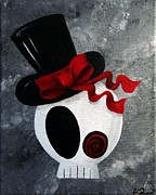 Oddball Art Painting Prints - Mr. Punk Love Print by Oddball Art Co by Lizzy Love