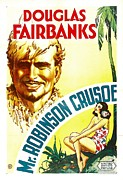 Beard Prints - Mr. Robinson Crusoe, Douglas Fairbanks Print by Everett