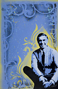 Stencil Spray Prints - Mr. Rogers Print by Iosua Tai Taeoalii