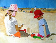Playing Painting Originals - Mr. Sandman by Judy Kay