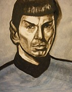 Vulcan Paintings - Mr. Spock by Jeremiah Cook