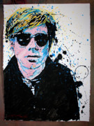 Andy Warhol Drawings - Mr Warhol by Chris Mackie