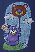 Balloon Flower Pastels Prints - Mr Wooger Print by Wendy CHO