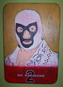 Wrestling Painting Originals - Mr. Wrestling 2 by Mojo Goat