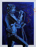 Lead Singer Painting Framed Prints - Mr.Mojo Risin  Framed Print by Anthony Jensen