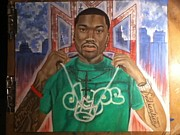 Hiphop Paintings - Mr.Philadelphia by Stephen  Hatala